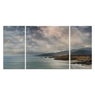 'Calming Sea' 3-piece Canvas Wall Art
