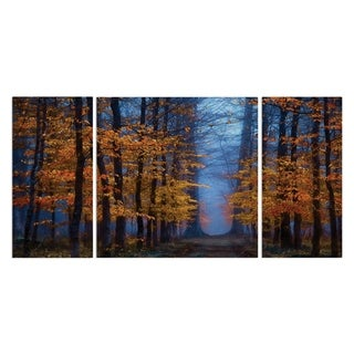 Wexford Home 'The Path of Midas' 3-piece Wall Art