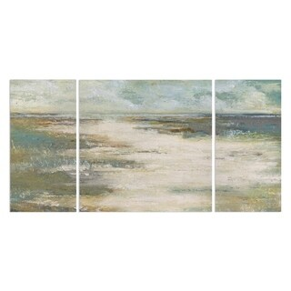 Wexford Home 'Misty Coast' Canvas Wall Art (Set of 3)