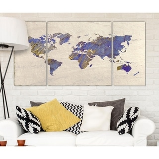 Wexford Home 'Painterly World' 3-piece Wall Art