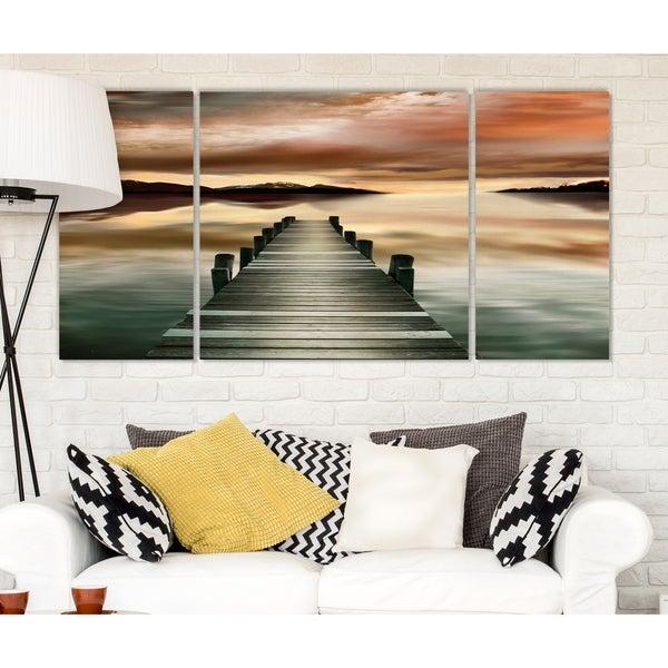'Sunset Jetty' Canvas Wall Art