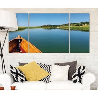 Wexford Home 'On the Inlet' Canvas Wall Art (Set of 3)