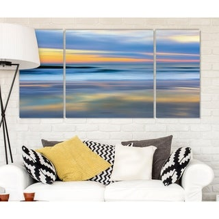 Wexford Home 'Pastel Sunset' Premium Canvas Multi-piece Hand-wrapped Giclee Wall Art