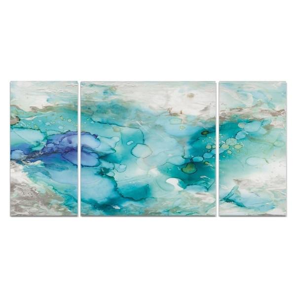 Wexford Home 'Teal Marble' Canvas Premium Multi Piece Art