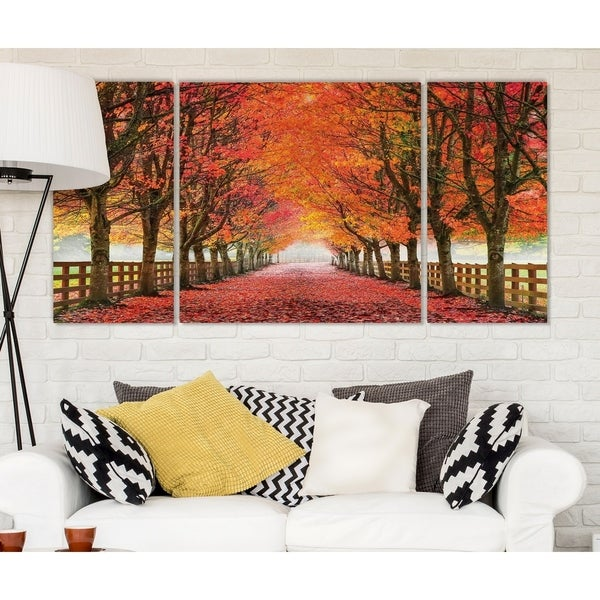 Wexford Home 'North Bend Trees' Premium Multi Piece Art