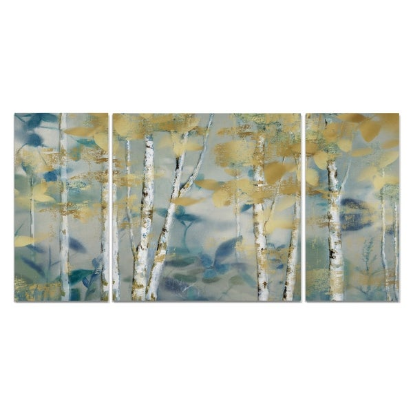 Wexford Home 'Gilded Forest I' Canvas Wall Art (Set of 3)