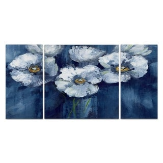 Wexford Home 'Blooming Poppies' Premium Canvas Multi-piece Hand-wrapped Giclee Wall Art