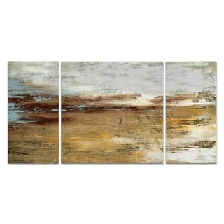 Wexford Home 'Golden Twilight' 3-piece Wall Art