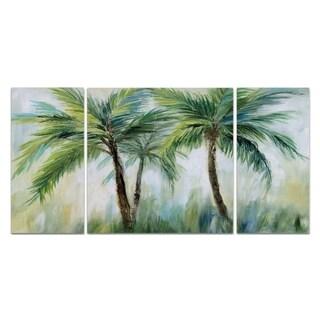 Wexford Home 'Palm Sensation' 3-piece Wall Art Set