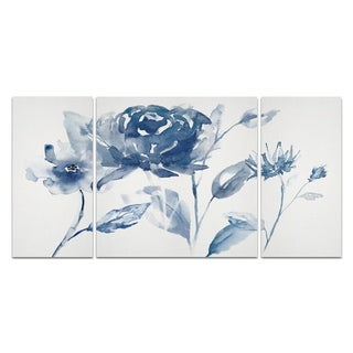 'Translucent Blues I' Canvas Wall Art