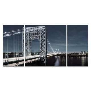 Wexford Home 'NYC at Dusk' Canvas Wall Art (Set of 3)