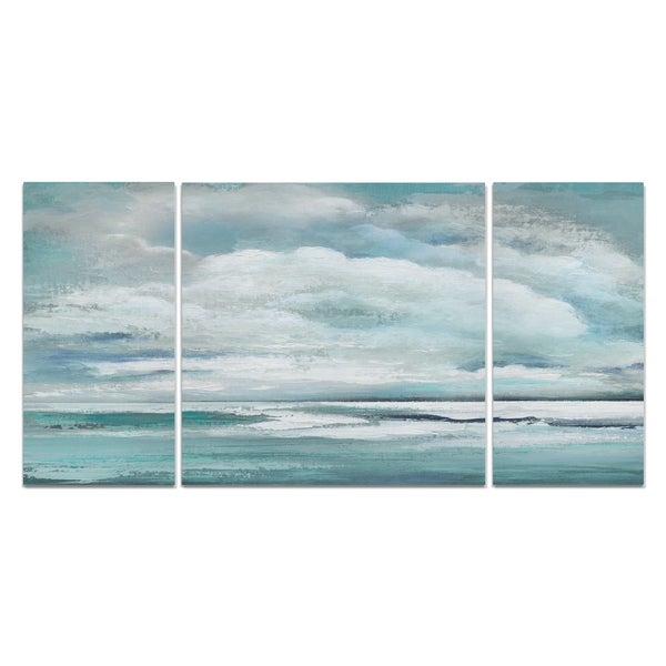 Wexford Home 'Billowing Clouds' 3-piece Wall Art