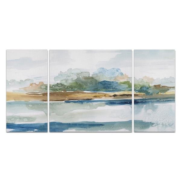 Wexford Home 'Blue Solace' Canvas Premium Multi Piece Art