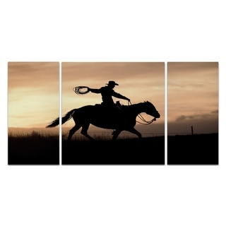 Wexford Home 'Rope and Ride I' 3-piece Wall Art
