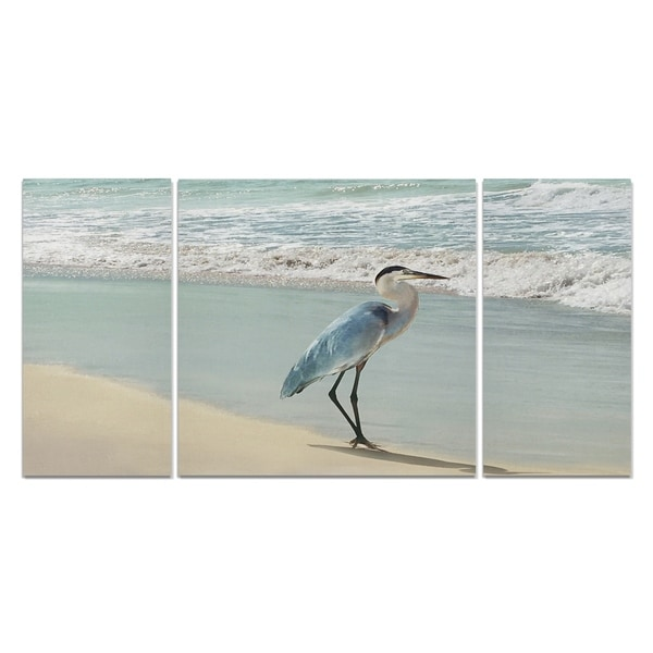 Beach Set Heron-A Premium Multi Piece Art available in 3 sizes