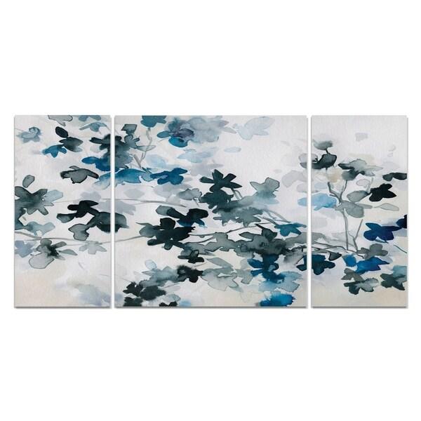 'Blue Cherry Blossoms' Canvas Premium Multi-piece Art
