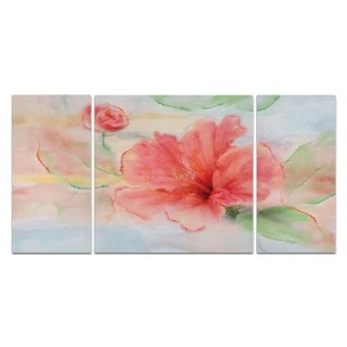 Wexford Home 'Hibiscus' Canvas Premium Multi Piece Art