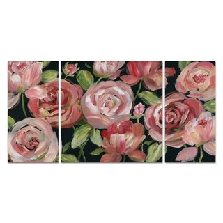Wexford Home 'Red Velvet' Canvas Wall Art (Set of 3)