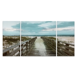 'Happy Place' 3-piece Canvas Wall Art