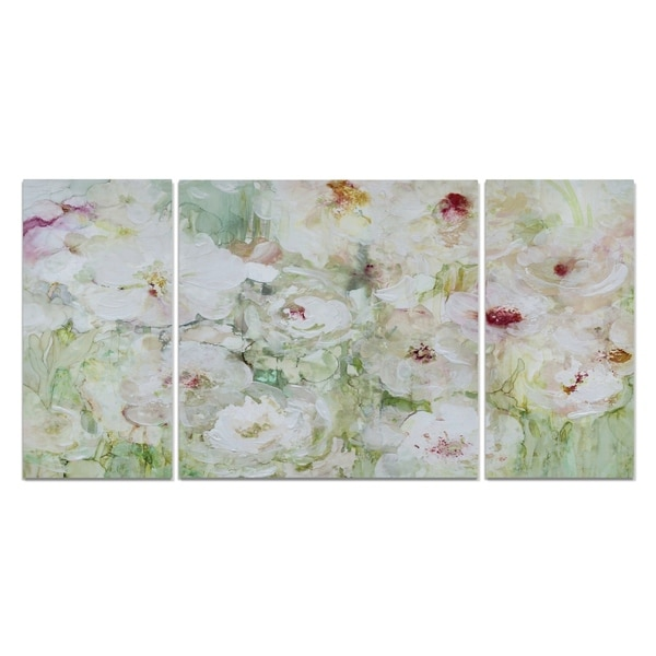 'Jardin Blanc' Canvas Wall Art