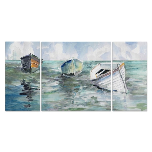 Wexford Home 'Caught At Low Tide I' Premium 3-piece Art Set
