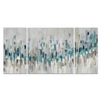 'Blue Staccato' Canvas Wall Art