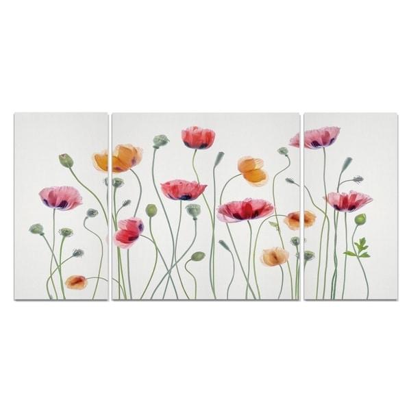 Wexford Home 'High Key Poppy Party' Premium 3-piece Art Set
