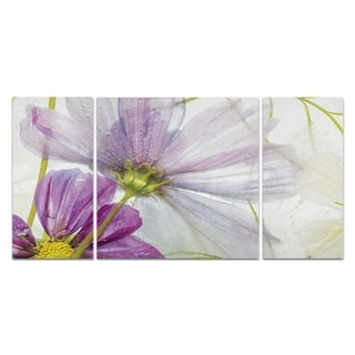 'Frozen Floral I' - Canvas Wall Art
