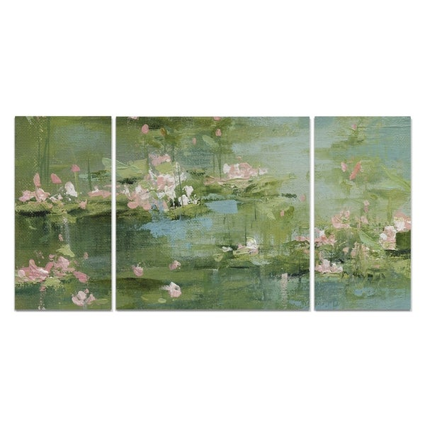 Wexford Home 'Celadon Waterlilies I' A Premium Multi Piece Art