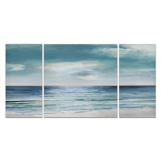 Wexford Home 'Blue Silver Shore' Canvas Premium Multi Piece Art