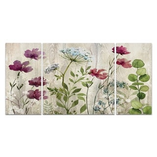 Wexford Home 'Meadow Flowers I' Premium 3-piece Art Set