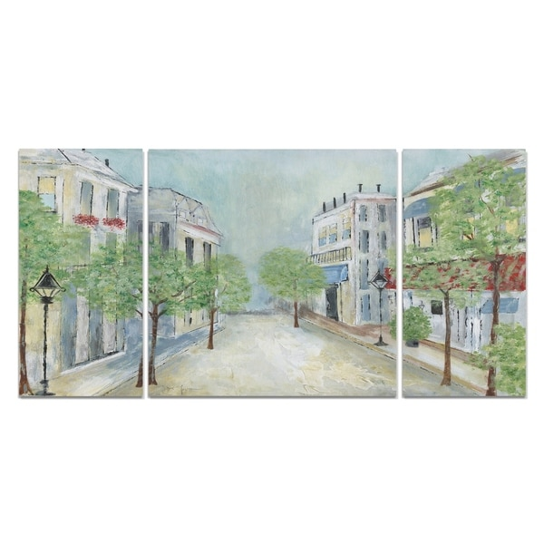 Wexford Home 'Springtime Stroll' Premium Canvas Wall Art (Set of 3)