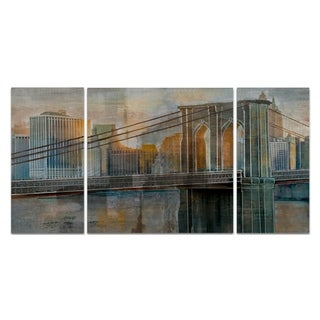 Wexford Home 'Brooklyn Bridge' Canvas Premium Multi Piece Art