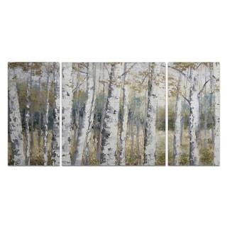 Wexford Home 'Hidden Birch' Canvas Wall Art (Set of 3)