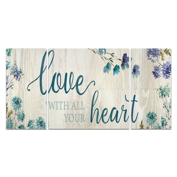 Wexford Home 'Love with All Your Heart' Canvas Premium Multi Piece Art