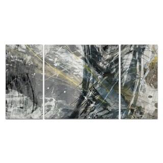 Wexford Home 'White Noise II' 3-piece Wall Art Set