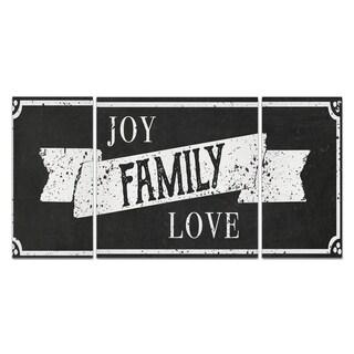 Wexford Home 'Joy Family Love' Premium Canvas Wall Art (Set of 3)
