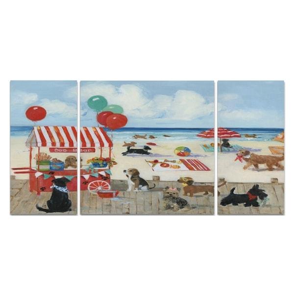 'Beach Bark Park I' Canvas Wall Art