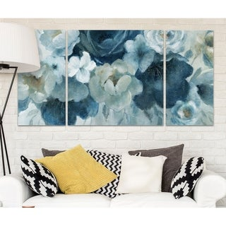 Wexford Home 'Blue on Blue' Canvas Wall Art (Set of 3)