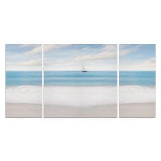 Insalata Caprese 'Beach Photography IX' Premium 3-piece Art Set