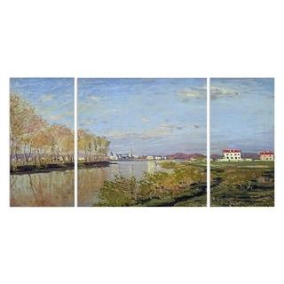 Wexford Home 'Argenteuil the Seine' Canvas Premium Multi Piece Art