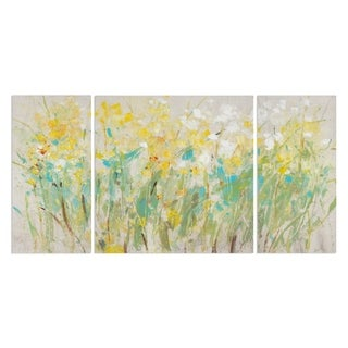 Wexford Home 'Floral Cluster II' Premium Canvas Wall Art (Set of 3)