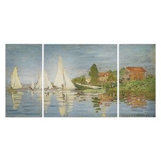 Wexford Home 'Chapelton at Argenteuil' Premium Canvas Multi-piece Hand-wrapped Giclee Wall Art