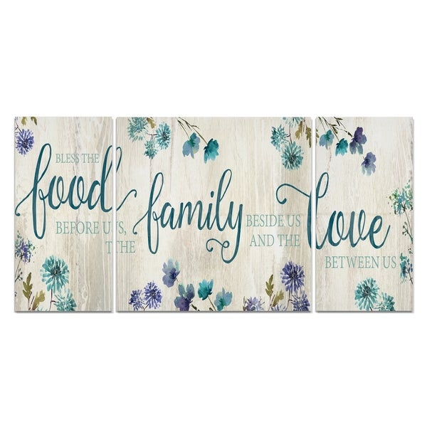 Wexford Home 'Food Family Love' Canvas Wall Art (Set of 3)