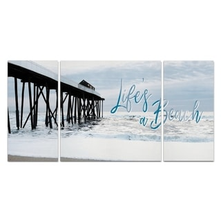 Wexford Home 'Life's a Beach' Premium Canvas Multi-piece Hand-wrapped Giclee Wall Art