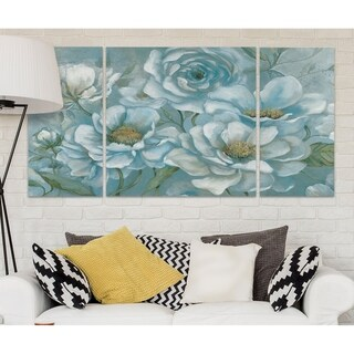 Wexford Home 'Twilight Blooms' Premium 3-piece Art Set