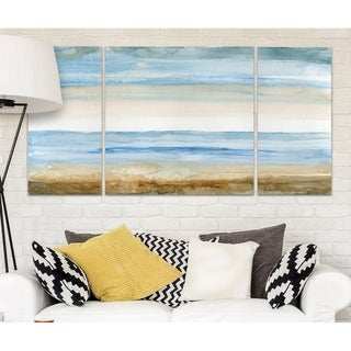 Wexford Home 'Seaside II' Canvas Wall Art (Set of 3)