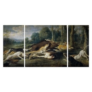 Wexford Home 'Boar Hunt' Canvas Wall Art (Set of 3)