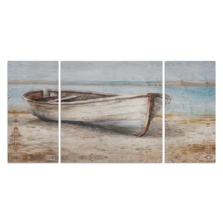 Wexford Home 'Embellished Whitewashed Boat' A Premium Multi Piece Art