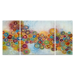 'A Garden' 3-piece Canvas Wall Art